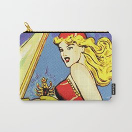 Comic Girl - 2 Pop Carry-All Pouch
