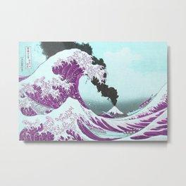 Great Wave Eruption   Metal Print