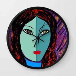Purple Pop Girl Wall Clock