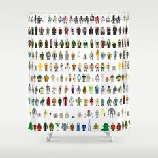 Pixel Wars Shower Curtain