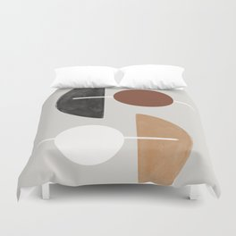 Moon and Sun Abstract Duvet Cover