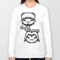 gameboy Long Sleeve T-shirts featuring Gameboy Grumps by Bonkatomic