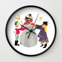 snowman Wall Clocks featuring Snowman by Design4u Studio