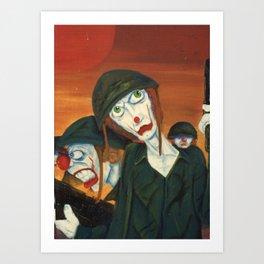 Clown War Art Print