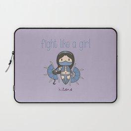 Fight Like a Girl - Mortal Kombat's Kitana Laptop Sleeve