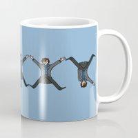 conan Mugs featuring Dancing Sherlock by Doodle Dojo
