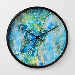 Psicodelic Adventure - Light Blue Wall Clock