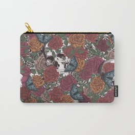 Roses, Skulls and Butterflies Carry-All Pouch