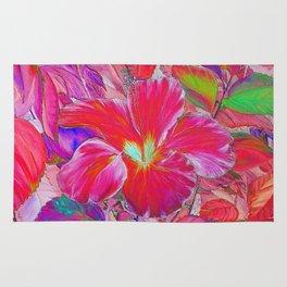 Pink Hibiscus Rug