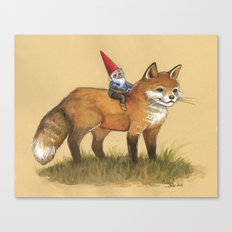 Gnome and Fox Canvas Print