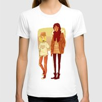 snk T-shirts featuring Ymir and Historia by rhymewithrachel