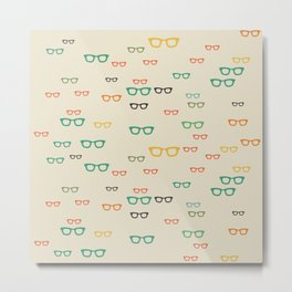 PUT YOUR GLASSES ON Metal Print