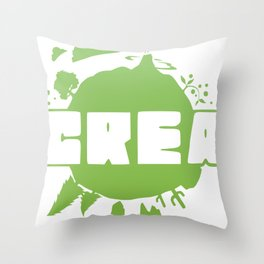 Crea logo Throw Pillow