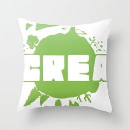 Crea logo Throw Pillow
