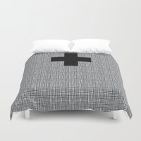 cross Duvet Covers featuring Cross by SuzanneCarter