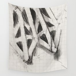Charcoal Rubbing of Copper Stencil Wall Tapestry