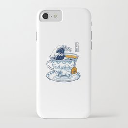 The Great Kanagawa Tea iPhone Case