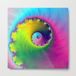 Color Wash Spiral Metal Print