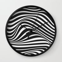 wave Wall Clocks featuring Wave by Tracie Andrews