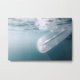 Underwater Paddle, Sand up Paddle Boarding Underwater View. Metal Print