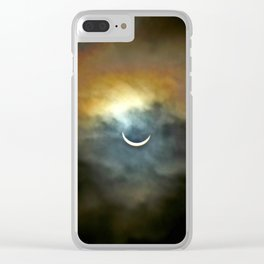 Solar Eclipse 2 Clear iPhone Case