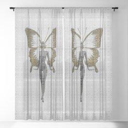 Portrait of a Fashion Fairy Sheer Curtain