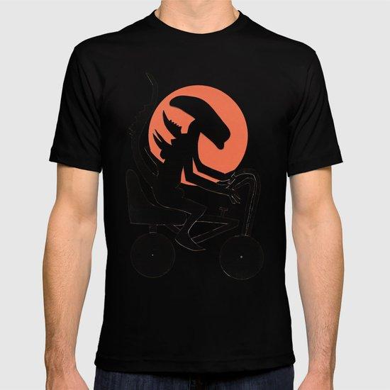 alien on a chopper T-shirt