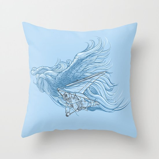 gliding on the wind Throw Pillow