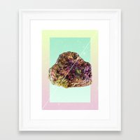 mineral Framed Art Prints featuring Mineral Love by Danny Ivan