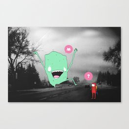(?) Canvas Print