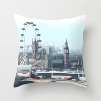 enerjax Throw Pillows featuring London by enerjax