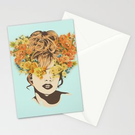 Tropical Lady Stationery Cards