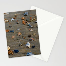 Shades of Shells on the Sand Stationery Cards