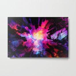 Abstract City Nebula Night Metal Print