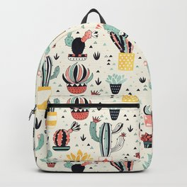 Cacti in a Flower Pot Backpack
