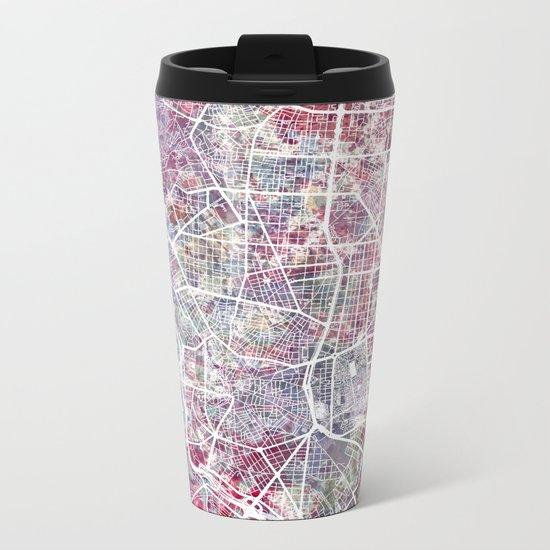 Madrid map Metal Travel Mug