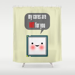 Cute blushing CPU My cores are hot for you Shower Curtain