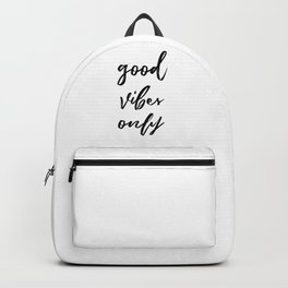 Good Vibes Only in Script Backpack