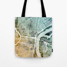 Philadelphia Pennsylvania Street Map Tote Bag