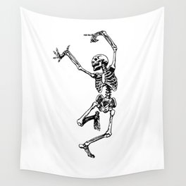 DANCING SKULL Wall Tapestry