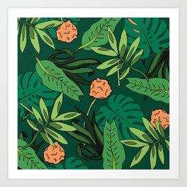 Deep In The Jungle... Art Print