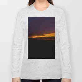 mahinapua sunset over the clouds vertical drone colors Long Sleeve T-shirt