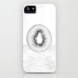 Black and White Kiwi Fruit iPhone Case