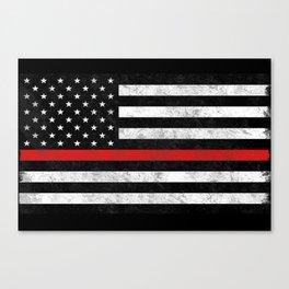 Thin Red Line Flag Canvas Print