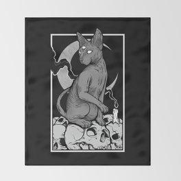 Occult Cat Throw Blanket