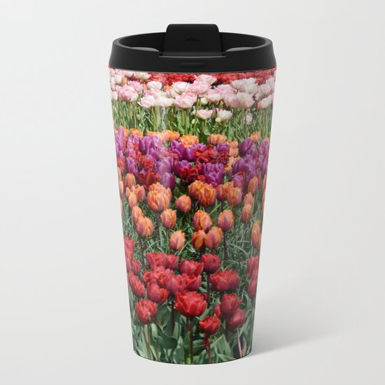 Colorful Tulips Metal Travel Mug