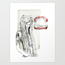 What great big teeth you have Art Print