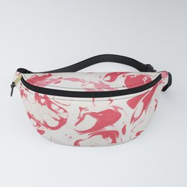 Red Bloody Watercolor paint Fanny Pack