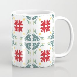 Floral Tiles Pattern Coffee Mug