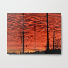 Neon Sunset Metal Print